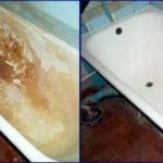 Ванна до и после эмалировки