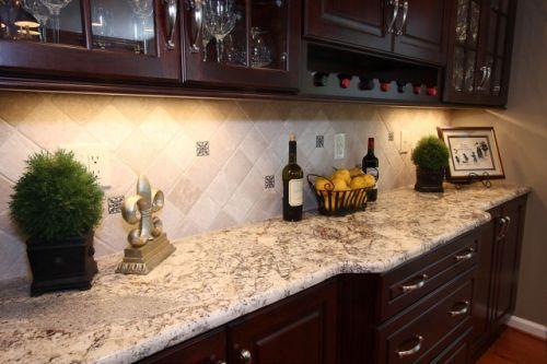 Плитка на кухне (диагональ)