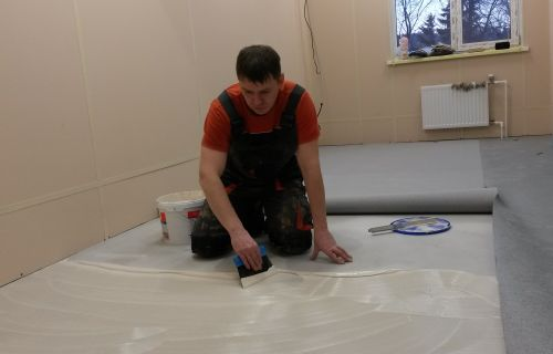 Laying of linoleum odessa price