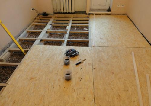 Сухая стяжка - ремонт пола в квартире
