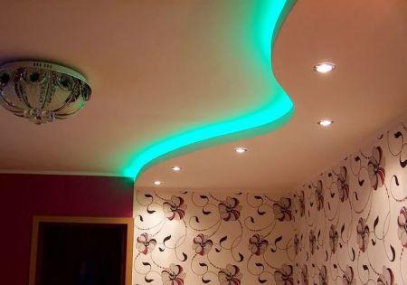 Подсветка подвесного потолка